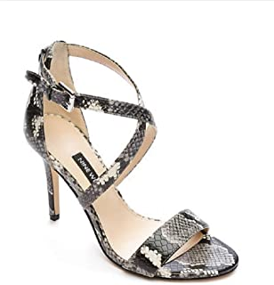 NINE WEST Women's High Heeled Sandals - MYDEBUT - Gray Multi (Numeric_7_Point_5)
