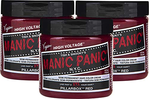 Manic Panic High Voltage Classic Cream Formula Semi-Permanente Haarfarbe 118ml (Pillarbox Red)