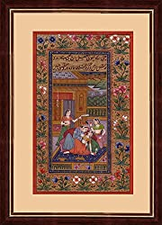 Hospitable Super Fine Indian Miniature Art Painting Rajashthani King And Queen Handmade Art Drawings