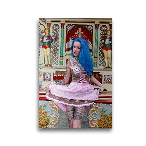 CALVENDO Premium Textil-Leinwand 30 x 45 cm Hoch-Format Dirndl Dream, Leinwanddruck von Andreas Comandante
