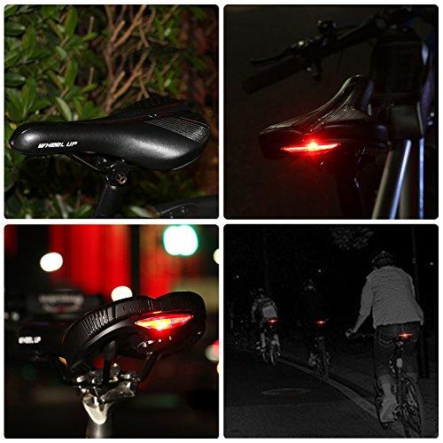 ROTTO Fahrradsattel Fahrrad Sattel Herren Damen für Rennrad MTB mit Regenschutz Schwarz - 5