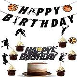 BESLIME fiesta temática de baloncesto Set, decoración de fiesta de cumpleaños, tema de baloncesto de cumpleaños, pancarta de cumpleaños, pastel de fiesta de cumpleaños de baloncesto