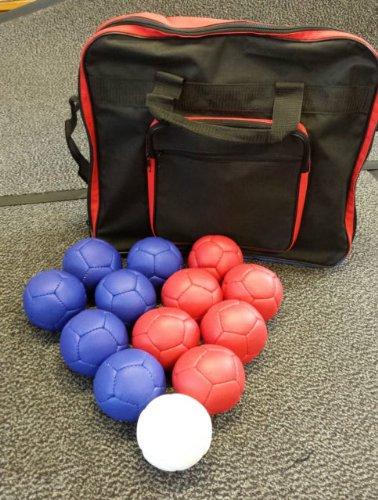 Bolas para Boccia Stevens - 6 rojas + 6 azules + 1 diana