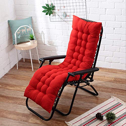 GCE Cojín Largo sillas reclinables Cojín Mecedora Plegable Cojín para Silla de jardín Alfombrilla para Suelo de Ventana Multicolor Opcional 48x155cm 15