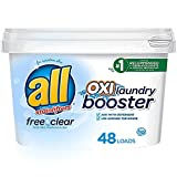 all OXI Laundry Booster for Sensitive Skin, Free Clear, 52 Ounces, 48 Loads