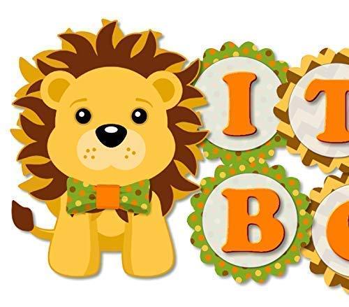 Orange Lion Baby Shower Banner with Bow - Garlan A Tie BOY IT'S Super Special SALE held Finally resale start