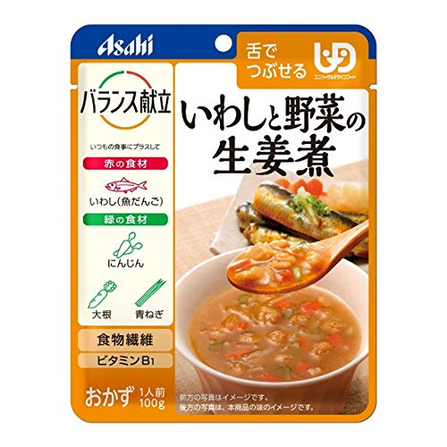 ◆アサヒグループ食品 バランス献立 いわしと野菜の生姜煮 100g【3個セット】