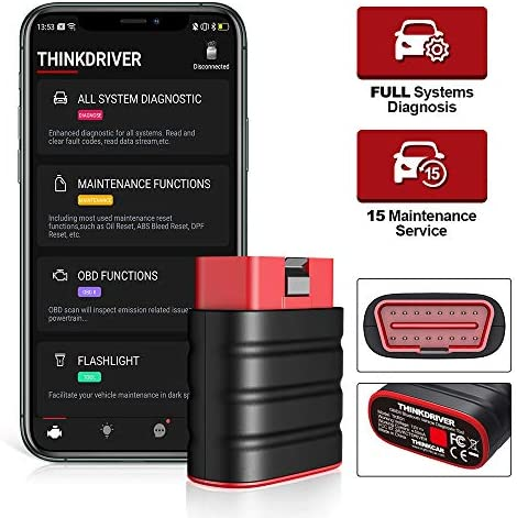 thinkcar ThinkDriver OBDII Bluetooth Scanner Check Engine Code Reader ABS Scan Tool Full System product image