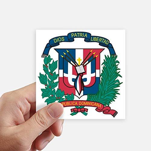 DIYthinker República Dominicana del Emblema Nacional del país Pegatinas cuadradas de 10 cm Pared Maleta portátil Motobike Decal 8pcs 10cm x 10cm