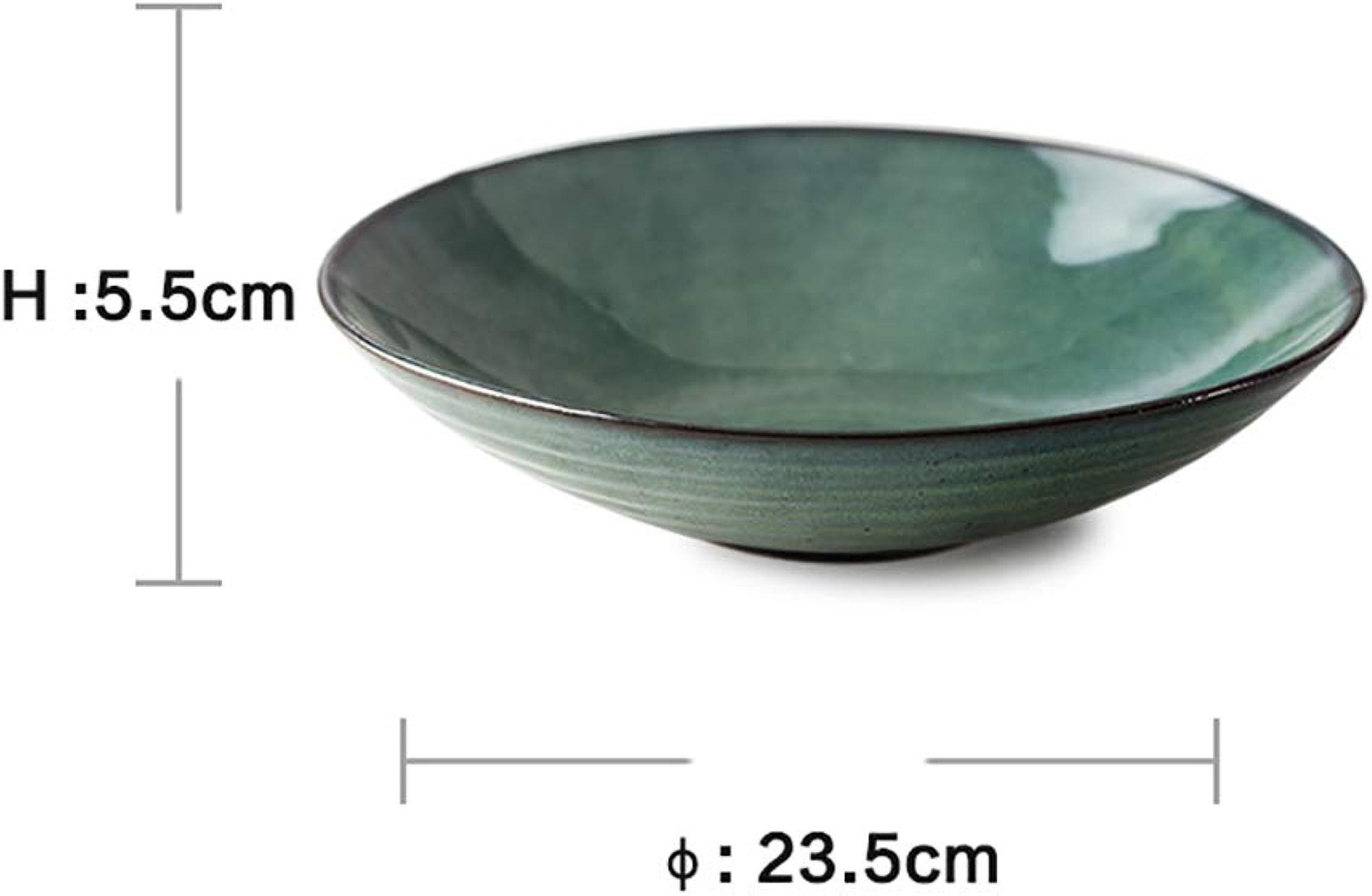 Bol, bol à mélanger de vaisselle de style européen, bol à soupe en céramique, bol à salade maison aux légumes et fruits, bol à dessert mignon, bol à raHommes créatif personnalisé (23,5 cm  5,5 cm)