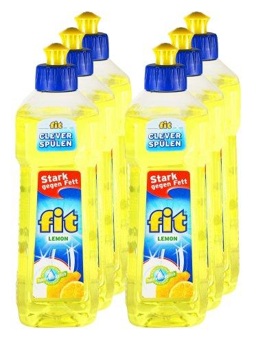 Unbekannt 6er Vorteilspack Fit Spülmittel Lemon 3000 ml