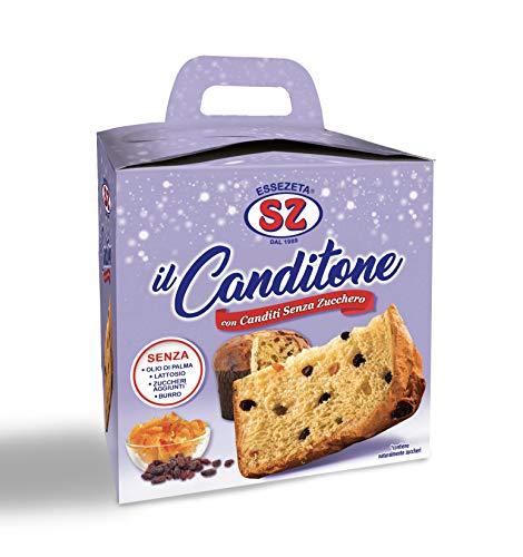 Sz - Senza Zucchero Canditone Con Canditi Senza Zucchero E Uvetta - 650 Gr