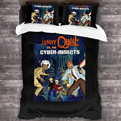 Yuanmeiju Jonny Quest Four Seasons Duvet Cover Set Quilt Cover (1 Duvet Cover 2 Pillowcases) 3 Piece Bedding Set 86' X70