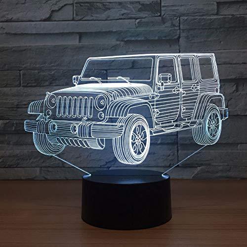 Acryl Jeep Auto SUV 3D Nachtlicht Neuheit Geschenke LED Schreibtisch Tischlampe 3D Illusion Kinder Jungen Geschenke Dekoration