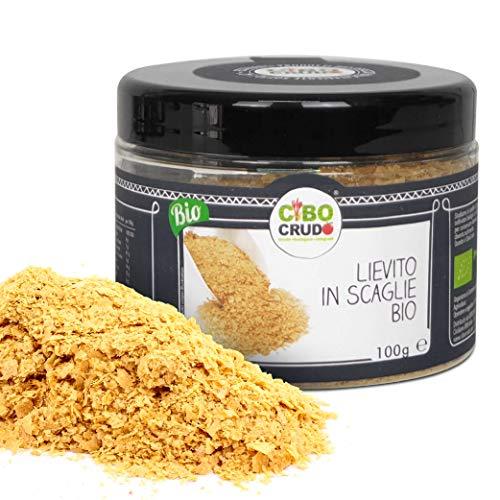 CiboCrudo Lievito Alimentare in Scaglie Bio, Naturalmente Senza Glutine, Senza Lattosio, Privato di Agenti Lievitanti, da Usare come Insaporitore e Condimento – 100 gr
