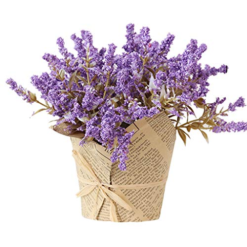 INNER PEACE Mother's dayMist Bamboo Grass Artificial Flower Decoration Wedding Bouquet Decor Bouquet Decor for Home Table, Window, Living Room, Bedroom, Office, Party Decor Purple