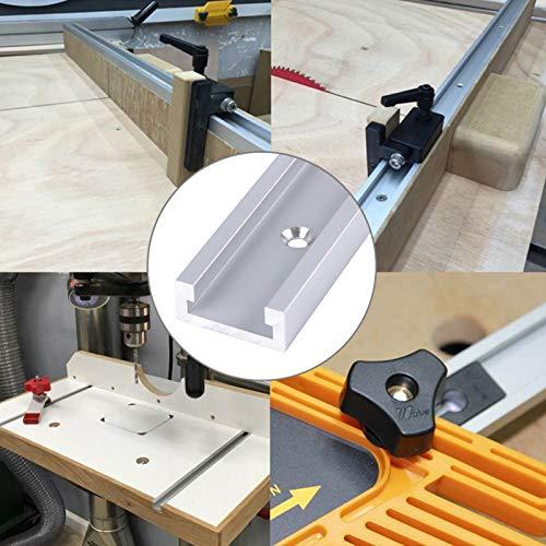 Herramienta de carpintería, aleación de aluminio universal con ranura en T con tornillos autoadhesivos para taladro de prensa para carpintería
