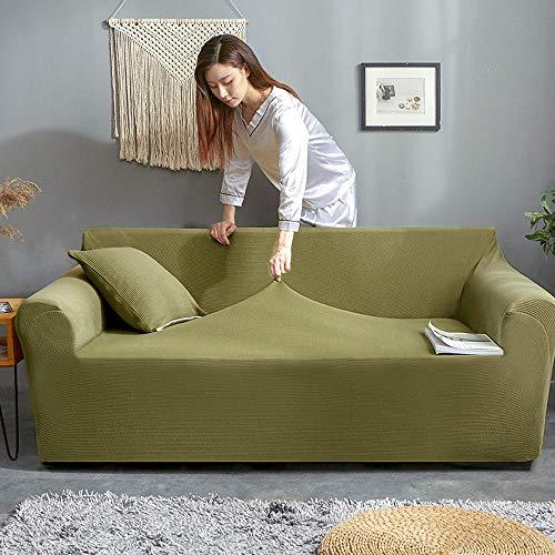 KANG bankovertrek sofa, antislip overtrek, machinewasbare woonkamer, bankovertrek, geschikt voor woonkamersofa, meubelbeschermingsofa, groen, 185-230 cm