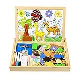 Puzzle Magnetico Blocchi Costruzioni Magnetiche InnooBaby Puzzle di legno per I Bambini Lasciate che il Vostro Bambino Imparare Colori e Forme