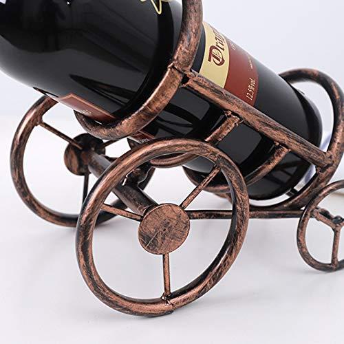 ASDZ Estante De Vino De Metal Retro Estante De Botella Individual Estante De Almacenamiento De Botellas De Vino Estante De Vino De Pie Libre Decoración De Mesa