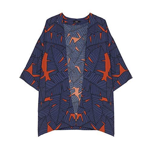 Parfois - Kimono Abierto Estampado - Mujeres - Tallas Única - Azul