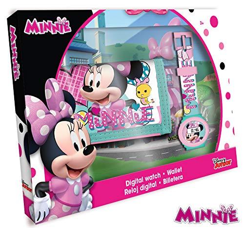Kids- Minnie Reloj Digital+Billetera 21x14, Multicolor (WD19881)