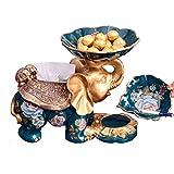 yxxgp Fruit Plate,Fruit Bowls Elefante Esclusivo Fruit Plate Decorazione Portacenere Sca...