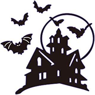 Zzeroe Cutting Dies Halloween Witch Pumpkin Embossing Stencil Template Mould for DIY Scrapbook Photo Album Embossing Craft Decoration Paper Card Making(Castle)