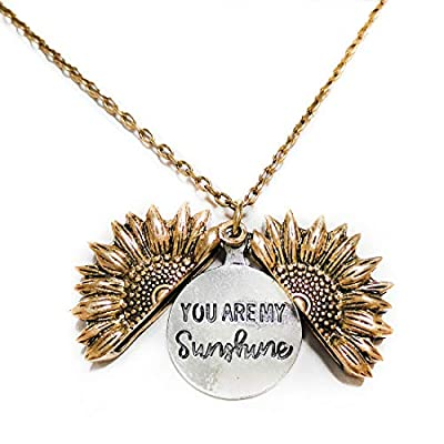 AddFavor Butterfly Pendant Necklace Flower Lock...