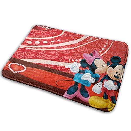 LVOE TTL Mickey und Minnie Mouse-Indoor Outdoor Eingang Teppich Fußmatten Schuhschaber Anti-Rutsch 15,7x23,5 Zoll