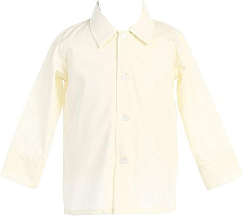 Boys Ivory Long Sleeve Dress Shirt (5)