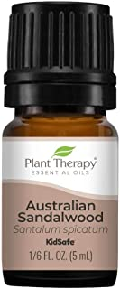 Plant Therapy Australian Sandalwood Essential Oil 100% Pure, Undiluted, Natural Aromatherapy, Therapeutic Grade 5 mL (1/6 oz)