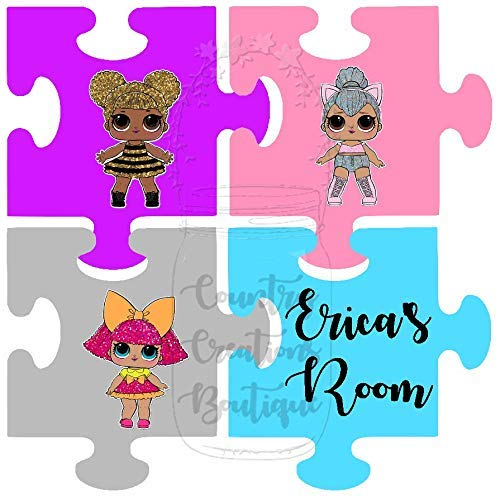 Lol Doll Puzzle Wall Pieces Personalized 8 X 8 or 12 x 12 Lol Dolls Surprise Wall Art, Ready to...