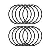 sourcingmap Guarnizioni in gomma nera ad anelli, 10pezzi, dimensioni 32mm x 35mm x 1,5mm