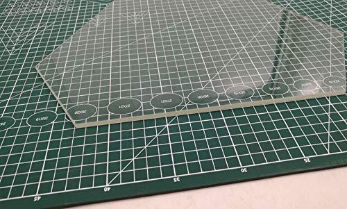 XACQuanyao LMY-Pulley, 1pcs temperd Vetro/borosilicato riscaldato Letto lastra di Vetro Costruire lastra di Vetro 4 Millimetri di Spessore for Delta Wasp 2040 (Size : Borosilicate Glass)
