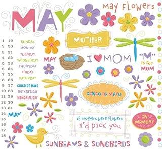 KAREN FOSTER Calendar Rub-Ons 8x8: May
