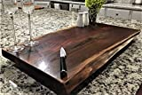 Black Walnut Extra Large, Gorgeous, Full-of-Character, Forest-to-Table Solid Double Live Edge Wood Charcuterie / Appetizer / Dessert / Grazing / Serving Board. 100% USA Handcrafted. 27 x 14 x 1.25'