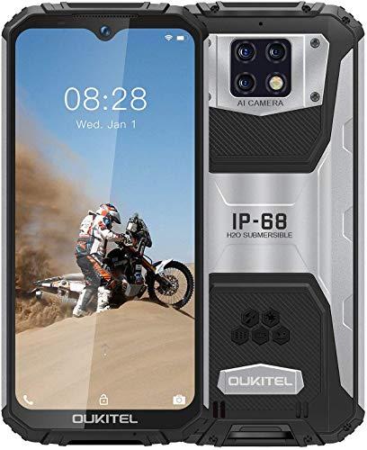 OUKITEL WP6 Outdoor Smartphone Ohne Vertrag (2021), 10000 MAH Akku 18 W Schnellladung, Helio P70 6GB+128GB, 6,3 Zoll FHD+ IP68 Robustes, 48 MP Quad-Kamera, Fingerprint ID/Dual SIM/GPS Outdoor Handy