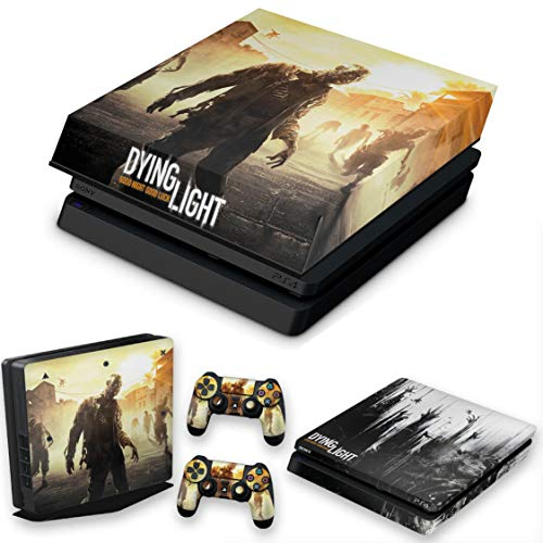 Capa Anti Poeira e Skin para PS4 Slim - Dying Light