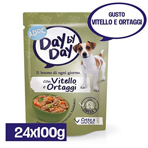 Adoc Day by Day - alimento completo per cani adulti con vitello e ortaggi - 24 buste da 100gr
