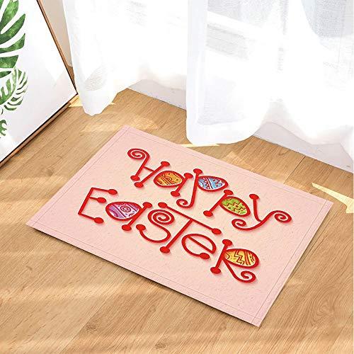 ZHOU Puzzle con fiammifero Rosso di Pasqua e Uova dipinte Tappeti Tappeto Antiscivolo Ingresso per Bambini Tappeto per Porta Anteriore per Interni Esterni 60x40cm