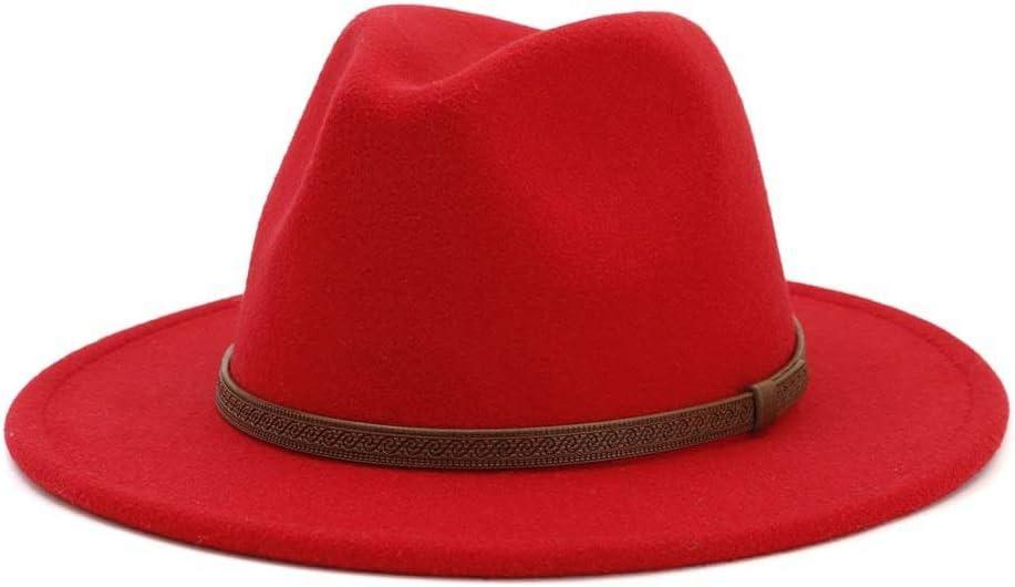 Nippon regular agency Unisex Men Women Wool Fedora Hat Panama Miami Mall with Wide Belt Brim