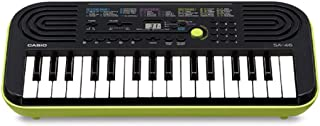 Casio 32 Note Mini Key Musical Portable Keyboard, Black/Green, (SA46)