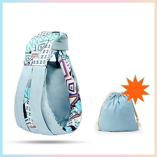 QZX Baby Wrap Premium Porte-bébé Neutre en Coton adapté aux Nouveau-nés, aux Nourrissons et aux Tout-Petits