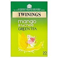 1パックマンゴー&ライチ20とトワイニンググリーンティー (x 6) - Twinings Green Tea with Mango & Lychee 20 per pack (Pack of 6) [並行輸入品]