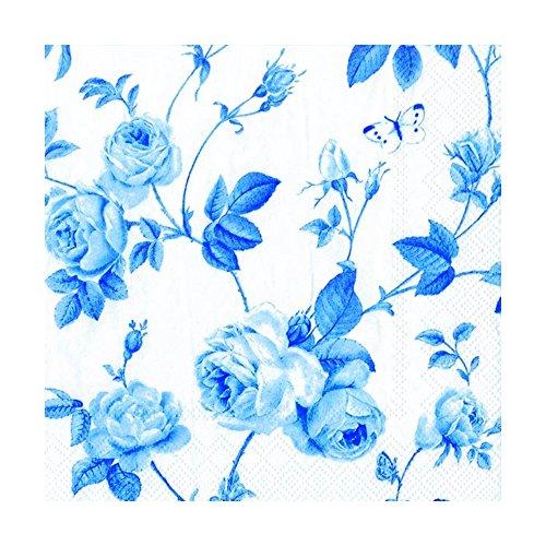 IHR Rambling rose Weiß, Blau), in traditionellem englischen Servietten, Papier, Blumenmuster