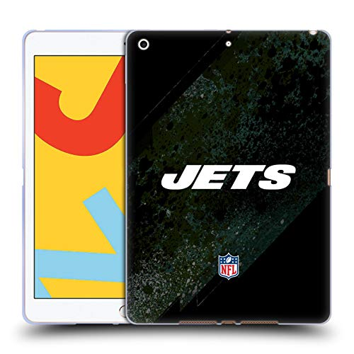Official NFL Blur New York Jets Logo Soft Gel Case Compatible for Apple iPad 10.2 (2019)/(2020)