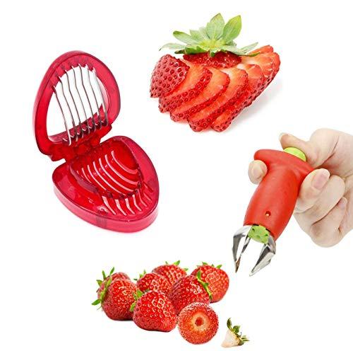 YFOX Der Erdbeergriffentferner Erdbeerschneider,der Erdbeergriffentferner Wird zum Schneiden von Erdbeerstielen verwendet und der Erdbeerschneider teilt die Erdbeere