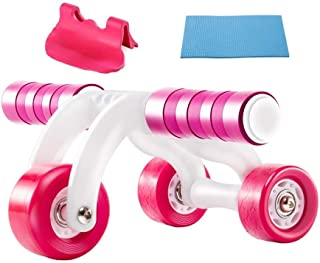 ACEmedia Ab Wheel Roller with Knee Pad Pro Fitness Equipment Ab Workout Machine Abdominal Wheel Exercise Equipment Home Gy...