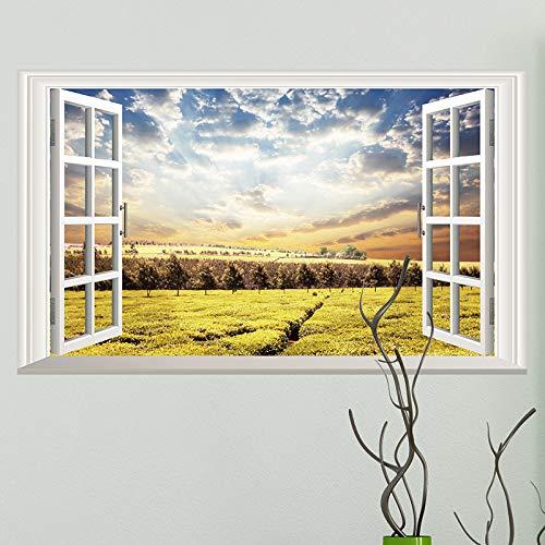 Muurstickers verwijderbare zelfklevende muur, hemelse thee tuin simulatie venster kunst muur